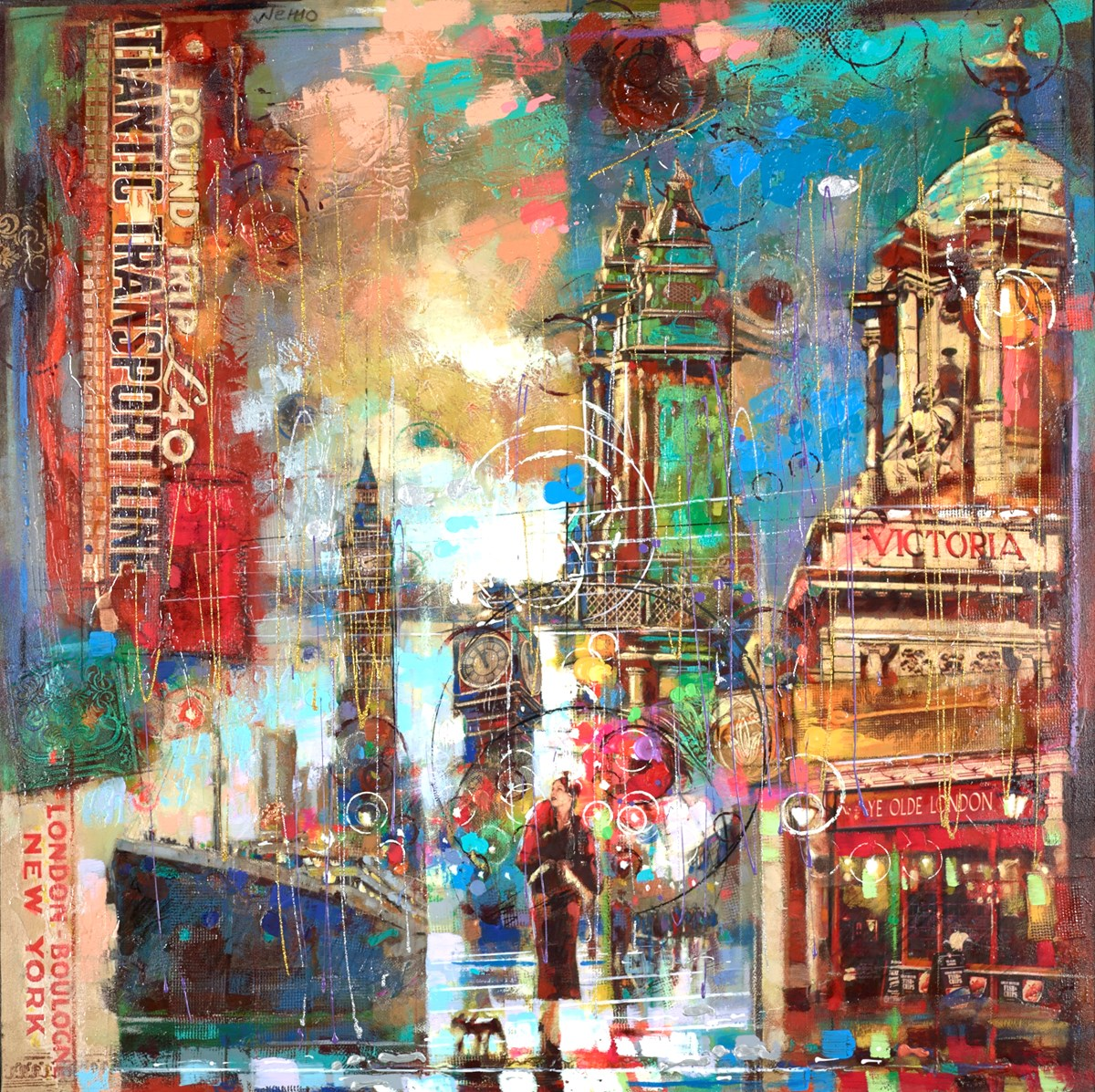 At Ye Olde London by nemo -  sized 40x40 inches. Available from Whitewall Galleries